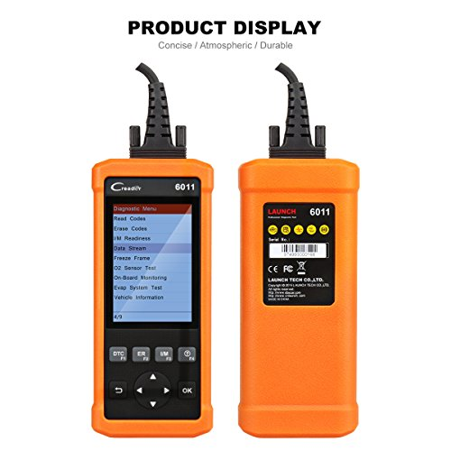 Launch CReader 6011 OBD2 EOBD Scan Tool Professional Auto ABS SRS Diagnostic Scan Tool Universal OBD2 Scanner Car Engine Fault Code Reader for OBDII Standard Vehicle by Launch (Image #2)