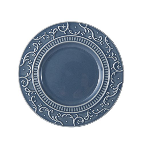 Mikasa Italian Countryside Accents Appetizer Plate, Scroll Blue