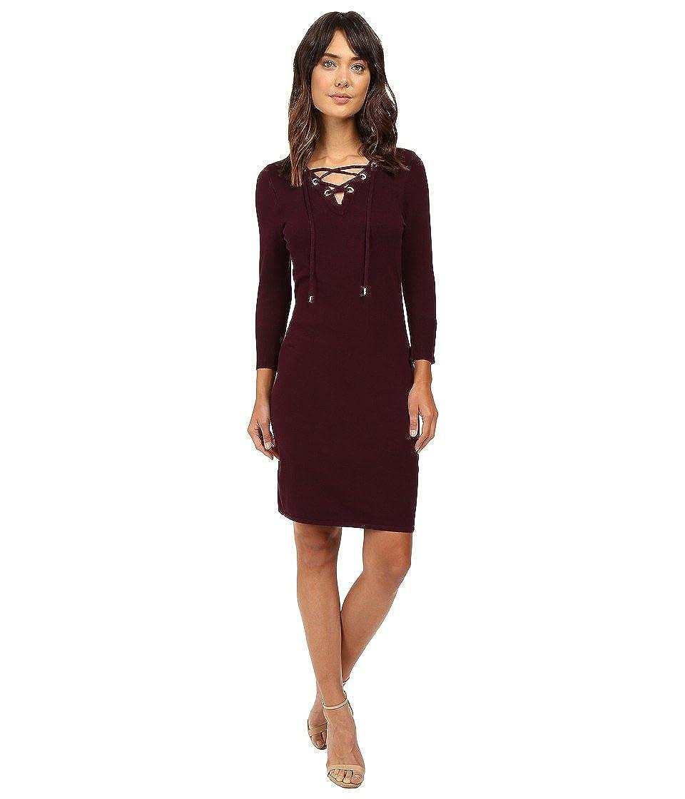 Calvin Klein Lace Up Sleeve Sweaters Cd6w1k5c Aubergine