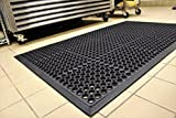 Black Anti-Fatigue Floor Mat Indoor Commercial Industrial Heavy Duty Rubber Floor Mats 36'' 60''