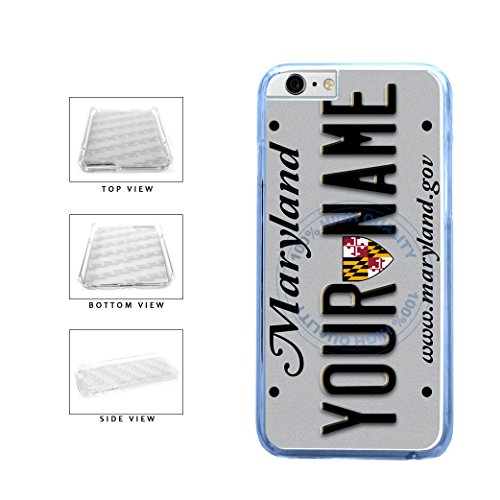 BleuReign(TM) Personalized Custom Name Maryland State License Plate Clear Sides Plastic Phone Case Back Cover For Apple iPhone 6 6s (4.7 Inches Screen) (Bleu Reign Inc Iphone 6)