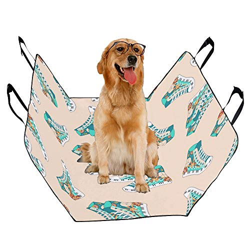 - JTMOVING Fashion Oxford Pet Car Seat Canvas Shoes Fashion Hand-Painted Waterproof Nonslip Canine Pet Dog Bed Hammock Convertible for Cars Trucks SUV