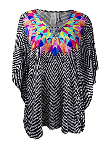 Bar III Women's Feather Daze Caftan Tunic Swimwear Cover up (M) from Bar III