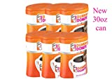 Dunkin' Donuts 6-Pack Original Blend Ground Coffee, Medium Roast, 30-Ounce Canisters