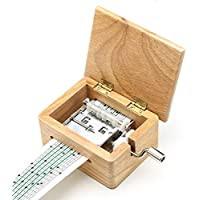 New DIY Hand-cranked Music Box Wooden Box With Hole Puncher And Paper Tapes By KTOY