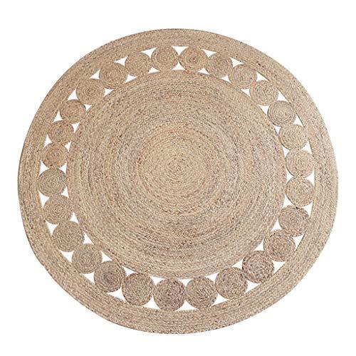 Amazon.com: Room Décor Carpet Hand-Woven Jute Rounded Study ...
