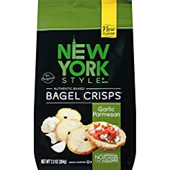 New York Style Bagel Crisps, Garlic Parm...
