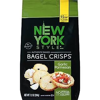 New York Style Bagel Crisps, Garlic Parmesan, 7.2 Ounce