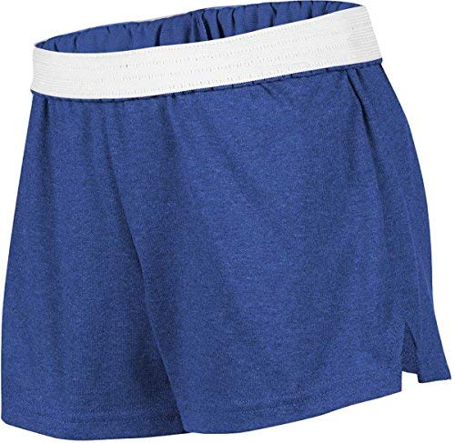 (Soffe Girls' Cheer Shorts (Team Royal Heather/X-Small))
