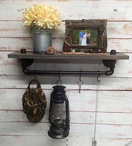 Industrial Shelf Rustic Shelves Dcor Entryway Home Hallway