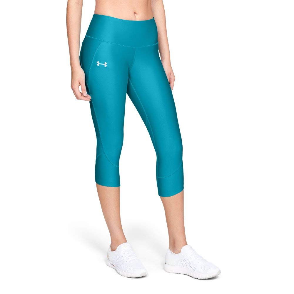 Under Armour Women's Armour Fly Fast Capris, Deceit (439)/Reflective, Large by Under Armour