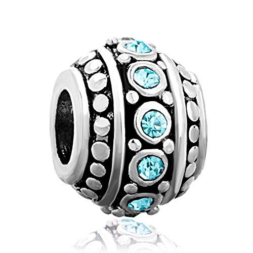 CharmsStory Filigree Aquamarine Birthstone Bracelets