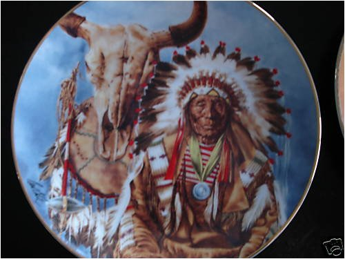 Sioux Chief, Paul Calle, Franklin Mint Collector Plate