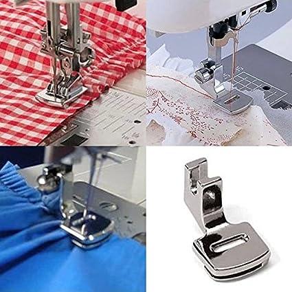 XuMarket (TM) Ruffler dobladillo pies prensatelas para máquina de coser Brother Singer Janome Kenmore