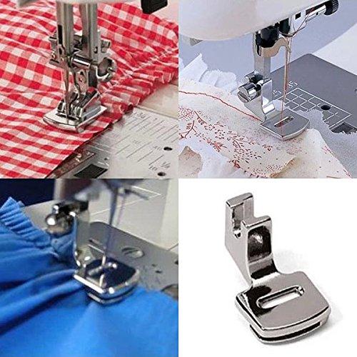 1pc Ruffler Hem Presser feet Feet For Sewing unit Singer Janome Kenmore Juki your home Supplies DIY programs Tools Accessories