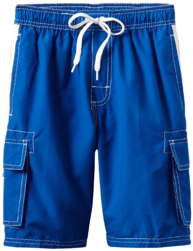 Kanu Surf Big Boys' Barracuda Quick Dry Beach Swim Trunk, Royal, Medium (10/12) (Suit Bathing Boy)