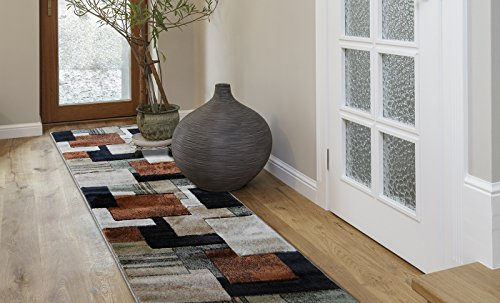 Home Dynamix 12RN-HD5367-548 Tribeca Collection Extra Long Runner Rugs, 26