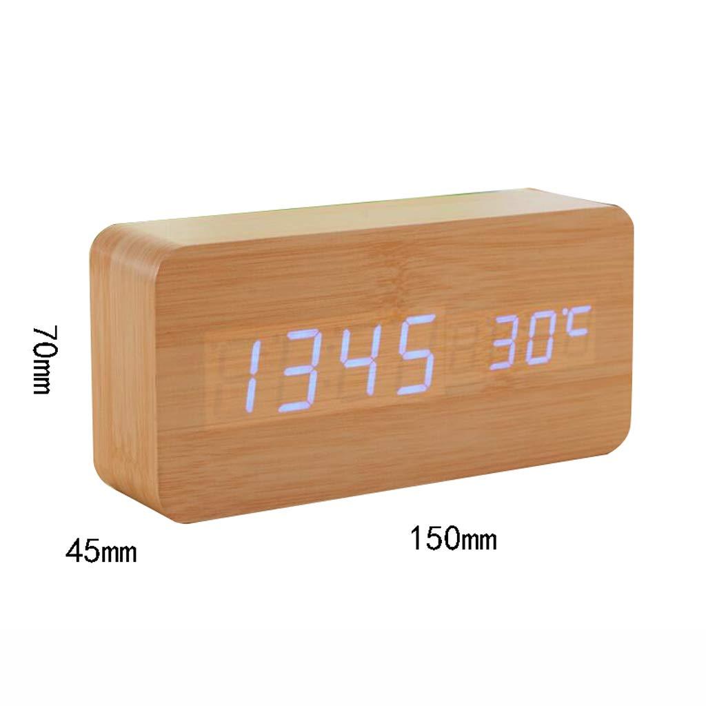 Despertador Reloj de Madera Reloj Electrónico Lindo Reloj Mudo ...