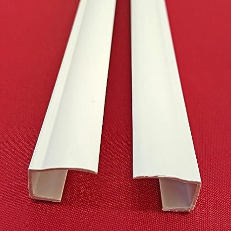 PVC Seitenschienen Kunststoff für Klemmfix-Rollos Seitenzugrollo ohne Bohren!
