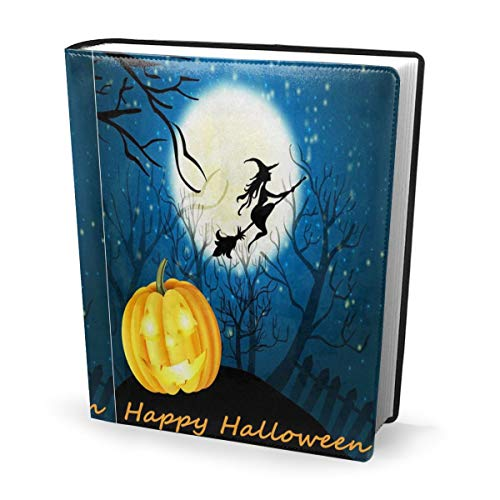 Appy Halloween Witch Pumpkin Book Cover 9x11 Inch Book Sox Notebook Covers Fits Large Hardcover Textbooks Up to 9x11 Inches