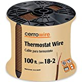 CERRO 210-1002CR 100-Feet 18/2 Thermostat Brown Wire, 100-Foot, 18-Gauge, 2 Ground