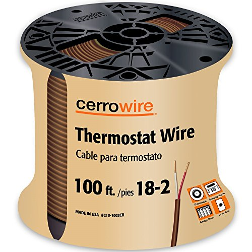CERRO 210-1002CR 100-Feet 18/2 Thermostat Brown Wire, 100-Foot, 18-Gauge, 2 (Cerro Wire)