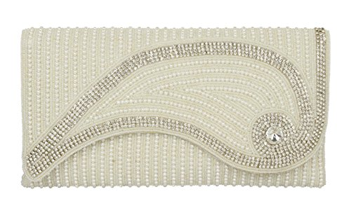 - { Extra 10% Discount } Purse Collection Beautiful Party Wear Beaded Clutch For Women's