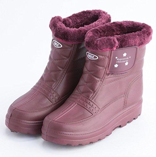 (エフタグ)F-TAG【早めのご準備を】レディース履けば分かる超軽量ボア付防水防寒ブーツ(L/ワイン赤)