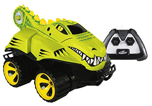 Kid Galaxy Amphibious RC Car Mega Morphibians Crocodile. All Terrain Remote Control Toy, 49 MHz