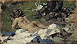 Perfect Effect Canvas ,the Vivid Art Decorative Canvas Prints Of Oil Painting 'Pinazo Camarlench Ignacio Desnudo 1888 ', 10 X 18 Inch / 25 X 44 Cm Is Best For Wall Art Decoration And Home Decoration And Gifts