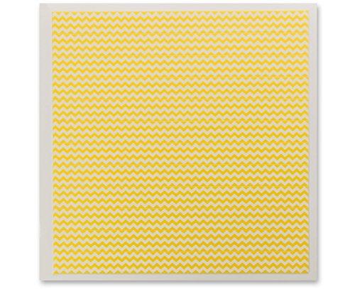 DecoPac Fondant DecoShapes Strips, Yellow Chevron, 0.56 Pound