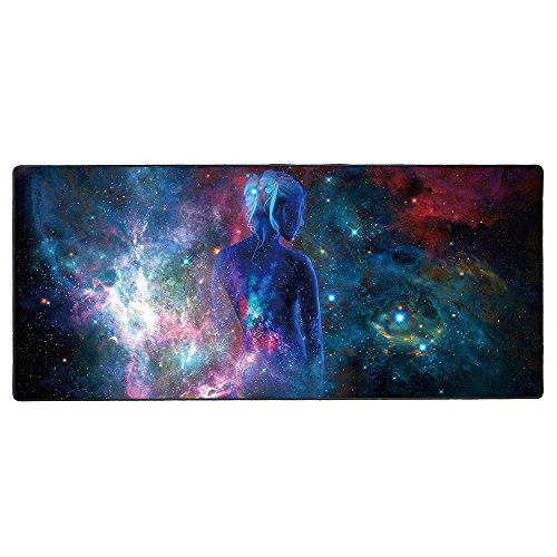 Cmhoo Large Mouse Pad Gaming & Professional Computer Extra Large Mouse Pad / Mat 27.5IN (7030 sky girl)