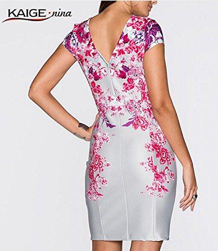 Cocktail Luxu Soirée floral Luxu Gala Mi floral 1 Xl Taille Robe longue Élégante Couleur De 2016 Mode Angatrade vqz5xBEc
