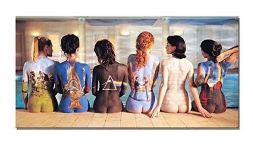 Yin Art Canvas Print Wall Art - Pink Floyd Album Covers Painted on Naked Women - 20x40''