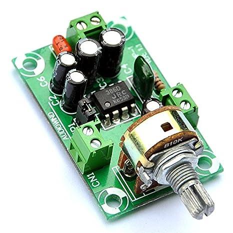 ELECTRONICS-SALON recargable de Audio Mono amplificador Kit, njm386d, LM386.