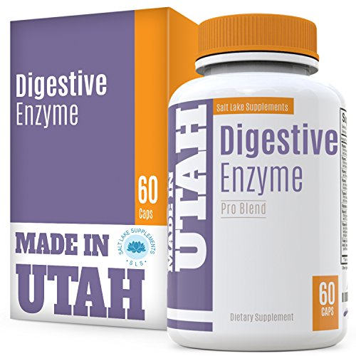 Digestive Enzyme Pro Blend – All Natural Stomach Support For Better Digestion And Nutrient Absorption, Fights Bloating, Gas And Constipation For A Healthy Tummy 60 capsules