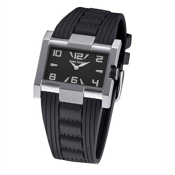 Time Force Reloj Analógico para Mujer de Cuarzo con Correa en Caucho TF4033L01: Amazon.es: Relojes