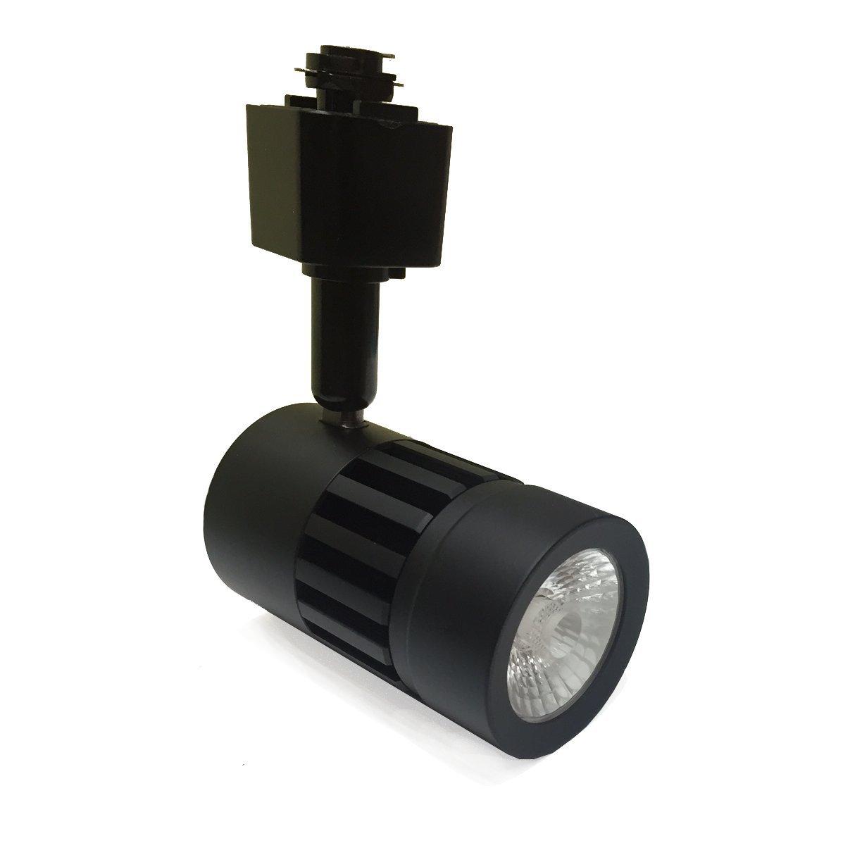 Infinity Green Lighting IG-TR011-9W-30K-BK 9W 3-Wire Round Led Track Lighting 3000k Black
