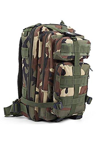 Outdoor-Rucksack aus strapazierfähigem Nylon, multifunktionaler Bergsport-Militärrucksack, wasserdichter Wander-Campingrucksack mit großer Kapazität, leichte Unisex-Tasche A