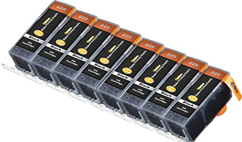 8 Black B-Edition Ink Cartridges for CLI-226 PGI-225 PIXMA iP4820 iP4920 iX6520 MG5120 MG5220 MG5320 MX712 MX882 MX892 (8 Blacks) by Blake Printing Supply