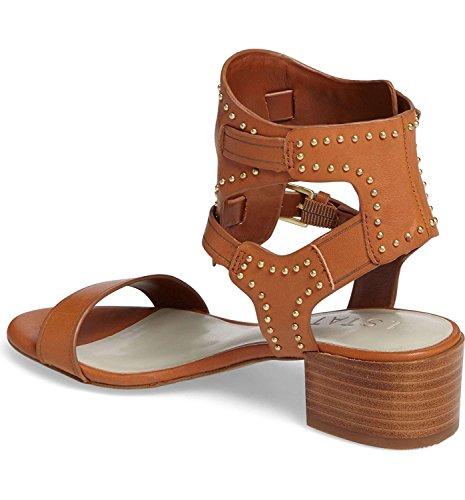 1. State Womens Rylen Leather Open Toe Casual Ankle, Tan/Vachetta, Size 7.5