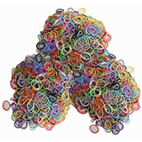 NaRaMax Latex-Free Silicone Refill Bands - 1800pcs Mixed Colors with 85+ C_Clips and S_Clips Mix. ()