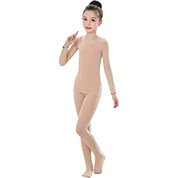 def607e2894a ZooBoo Toddler Girls Tight Dancewear - Long Sleeve Ballet BodySuit Tops  Outsuits Dresses Clothes for Children