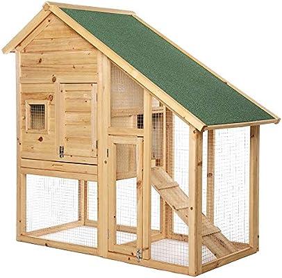 Dibea RH10012 - Establo para Animales pequeños (Madera, 140 x 64 x ...
