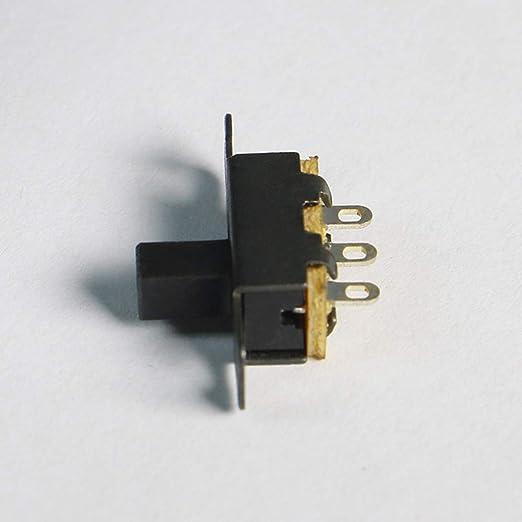t/él/écopieurs /équipement audio Ogquaton Commutateur /à glissi/ère de petite taille pour 50V 0.5A DC adapt/é aux jouets /électriques etc. 20Pcs