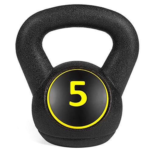 Best Choice Products 3-Piece HDPE Kettlebell Exercise Fitness Weight Set for Full Body Workout w/ 5lb, 10lb, 15lb Weights, Wide Grips, Base Rack - Black by Best Choice Products (Image #6)