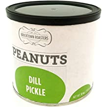 Dill Pickle Flavored Peanuts - WORLD FAMOUS Slow Roasted Nuts, Awesomly Unique and Seasoned to Finger Licking Perfection - Small Batch, Artisan Recipe, Great Gift Idea - 12 oz. can