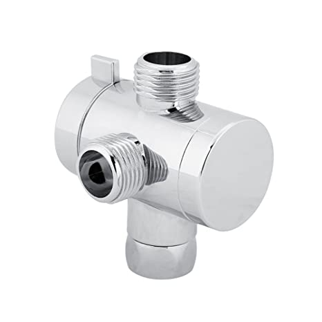 Shower Head Diverter Valve.3 Way Shower Head Diverter Valve Connector Adapter For Home