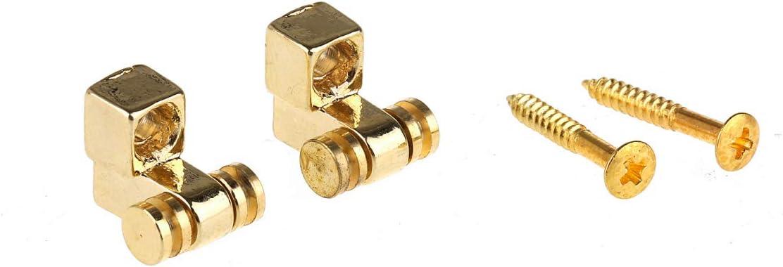 Set di 2 Cromatao Musiclily Pro Metallo String Guides Abbassacorde Rulli per Chitarra Elettrica Tipo Strat//Tele