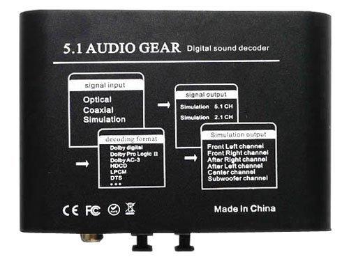IK-51A Convertidor Digital Audio Converter 5.1 / 2.1 canales de sonido envolvente de audio DTS/AC-3 decodificador: Amazon.es: Electrónica